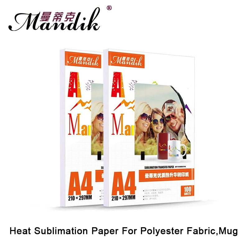 100gsm A3 A4 100 sheets per lot inkjet printing sublimation heat <font><b>transfer</b></font> photo paper