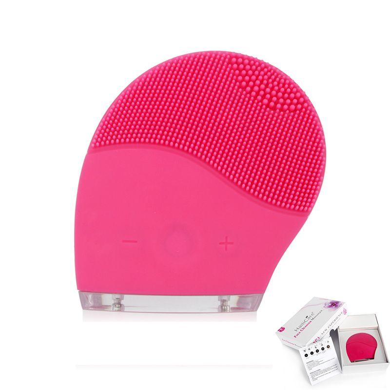 Soins du visage de la peau Mini électrique nettoyage du visage brosse de Massage Machine à laver étanche Silicone nettoyant saleté enlever livraison directe
