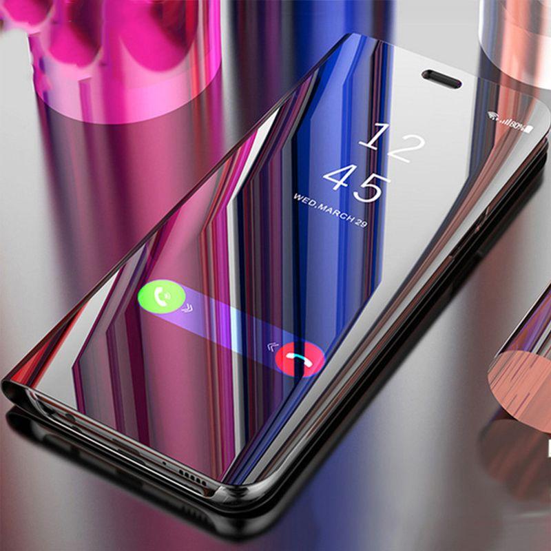 Für Huawei Mate 20 10 Pro P Smart 2019 Klar Spiegel Ansicht 360 Filp Stand Touch Fall Nova4 P30 P20 p10 Plus Honor 8 V10 lite abdeckung