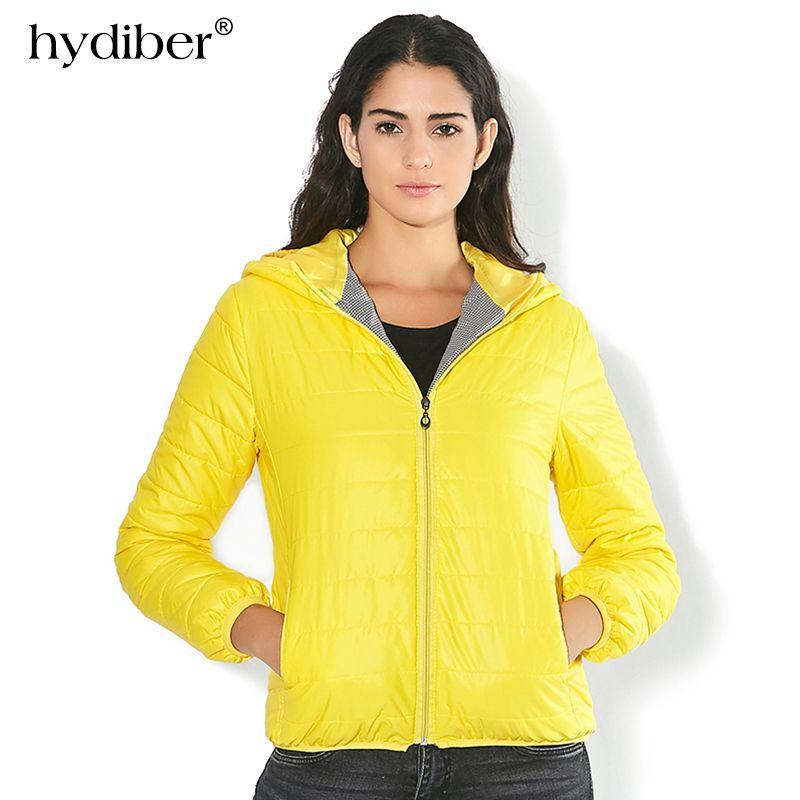 Solid Color Zipper Hooded Women Spring Jacket <font><b>2018</b></font> New Fashion Autumn Winter Slim Warm Ladies Coats Plus Size Outerwear
