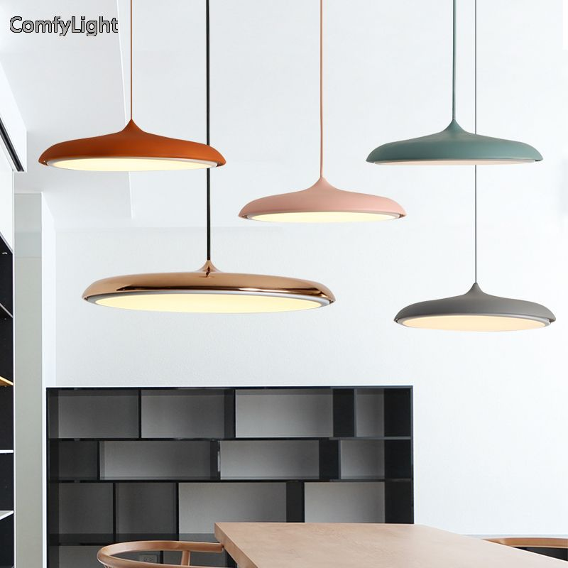 Nordic Hanging Lamp gold/copper color pendant light Lampshade Luminaire LED Bedroom/Kitchen island/shop window Home Lighting