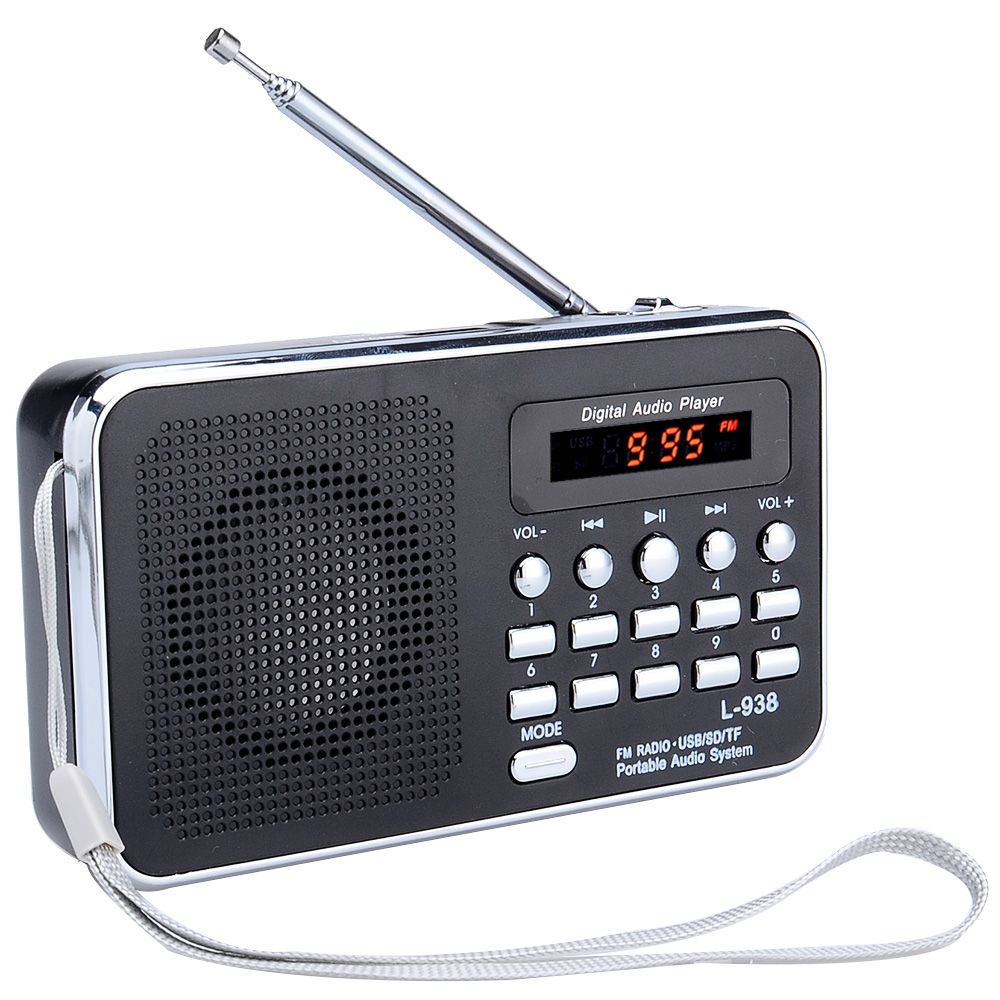 L-938 Portable Digital FM Radio TF Slot USB Mini Speaker For the Elderly People Free Shipping 12002014