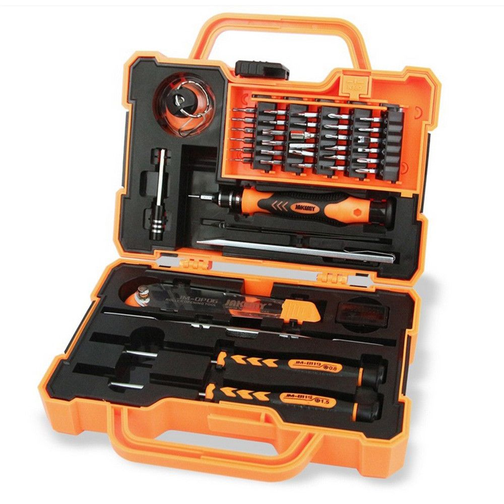 JAKEMY 45 in 1 Disassembling Repair Tool Multi Bits Precision Screwdriver Set with Tweezers Suitable for PC / Phone / Laptop