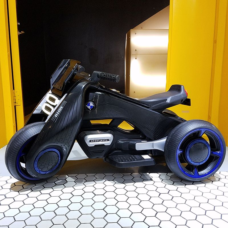 Children's Electric Motorcycle dual-drive Tricycle 1-7 Charging Toy Car can ride on