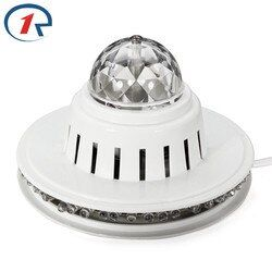 ZjRight NEW Full Color Voice Activated RGB LED Crystal Rotating Stage Light DJ Disco Xmas Lamp DJ KTV Club Family gathering