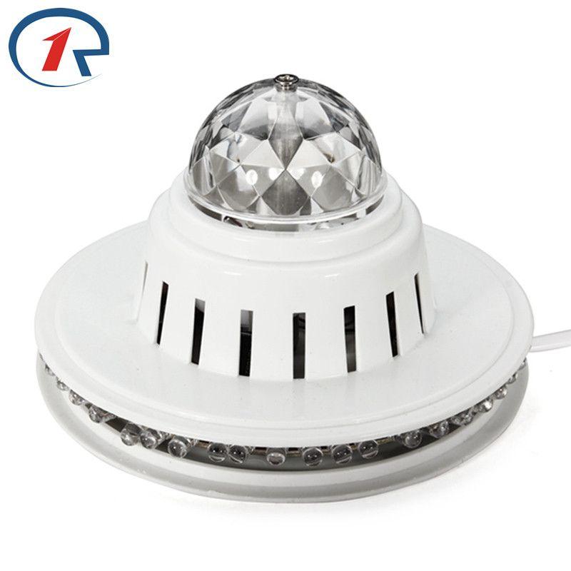 ZjRight mini couleur rvb LED cristal rotatif scène lumières DJ Disco vacances noël lampe DJ KTV Club famille rassemblement maison fête