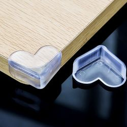 Baby heart type collision prevention angle child safety transparent protective table corner pad widening, thickening