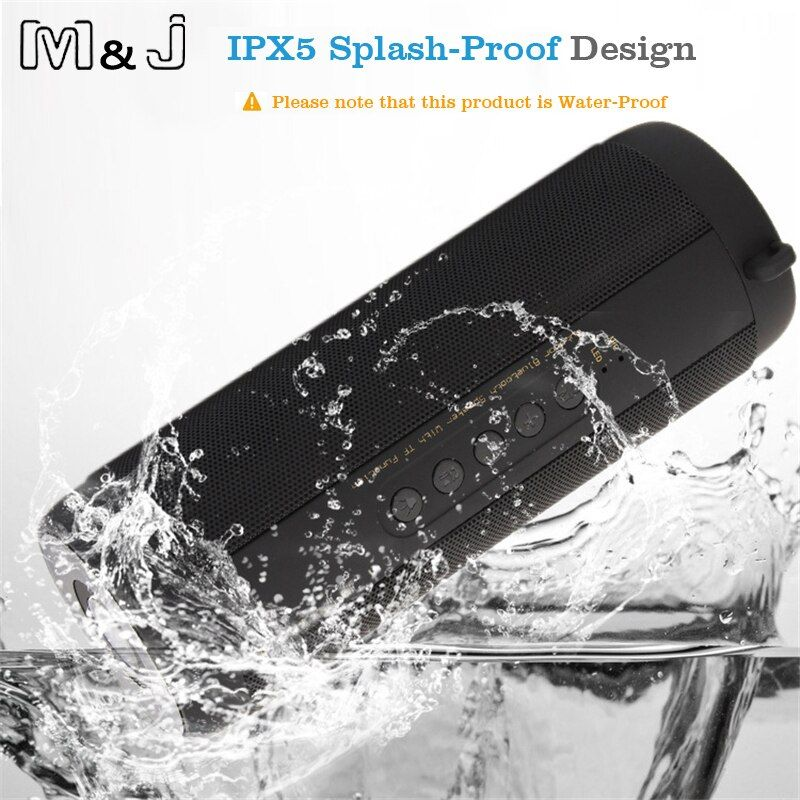 M&J Wireless Best Bluetooth Speaker Waterproof Portable Outdoor Mini Column Box <font><b>Loudspeaker</b></font> Speaker Design for iPhone Xiaomi