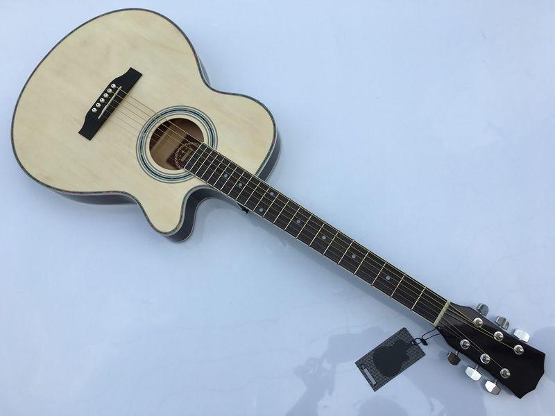Dünne körper akustische-elektrische gitarre anfänger gitarre mit freies gig tasche freies string