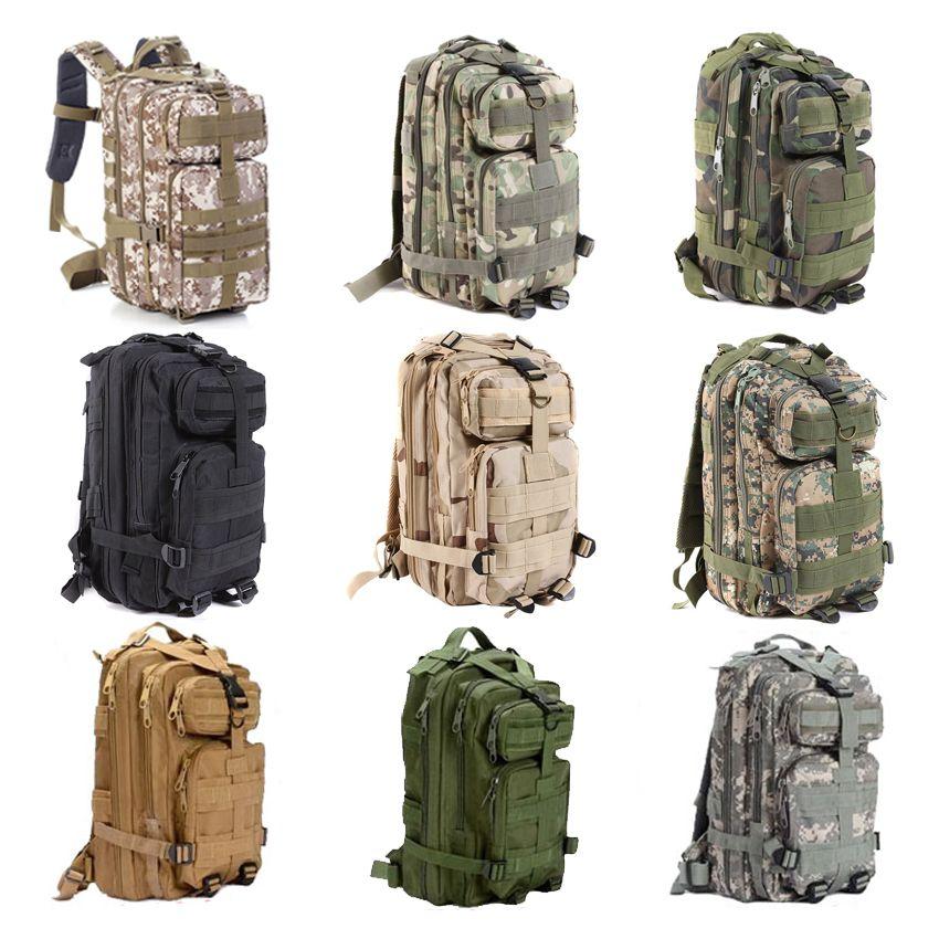 YOUGLE Large Capacity 30L Hiking Camping Bag Army Military Tactical Trekking Rucksack <font><b>Backpack</b></font> Camo storage bag