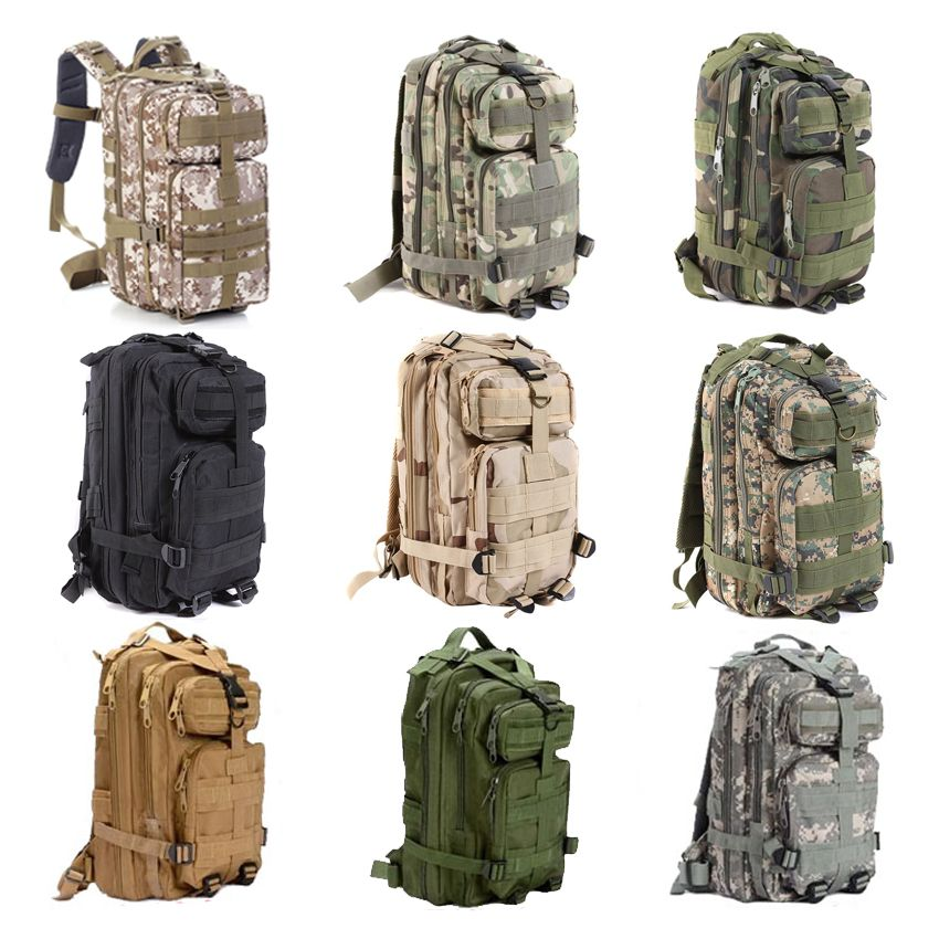YOUGLE Large Capacity 30L Hiking Camping Bag Army Military Tactical Trekking Rucksack Backpack Camo storage bag