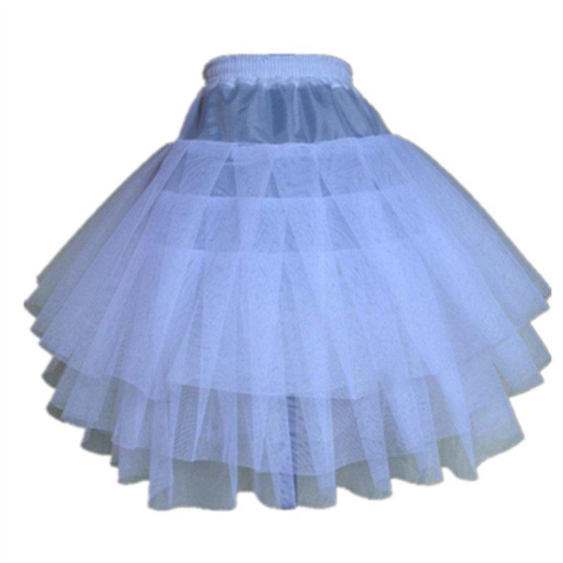 Nuevos Niños Enaguas para Formal/Vestido de Niña de las Flores 3 Capas Hoopless Crinolina Corta Niñas/Niños/Niño Underskirt