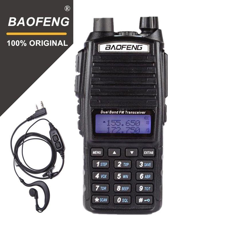 100% Original Baofeng UV-82 Walkie Talkie Dual Band Radio <font><b>Intercom</b></font> UV82 Pofung Two Way Radio VHF UHF Portable FM Ham Transceiver
