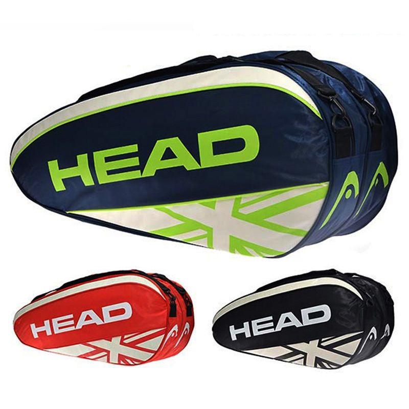 Tennis Schläger Tasche Kopf Handtasche Doppel Schulter Rucksack Raquete De Tenis Für 3-6 Schläger Badminton Squash Männer Im Freien sport