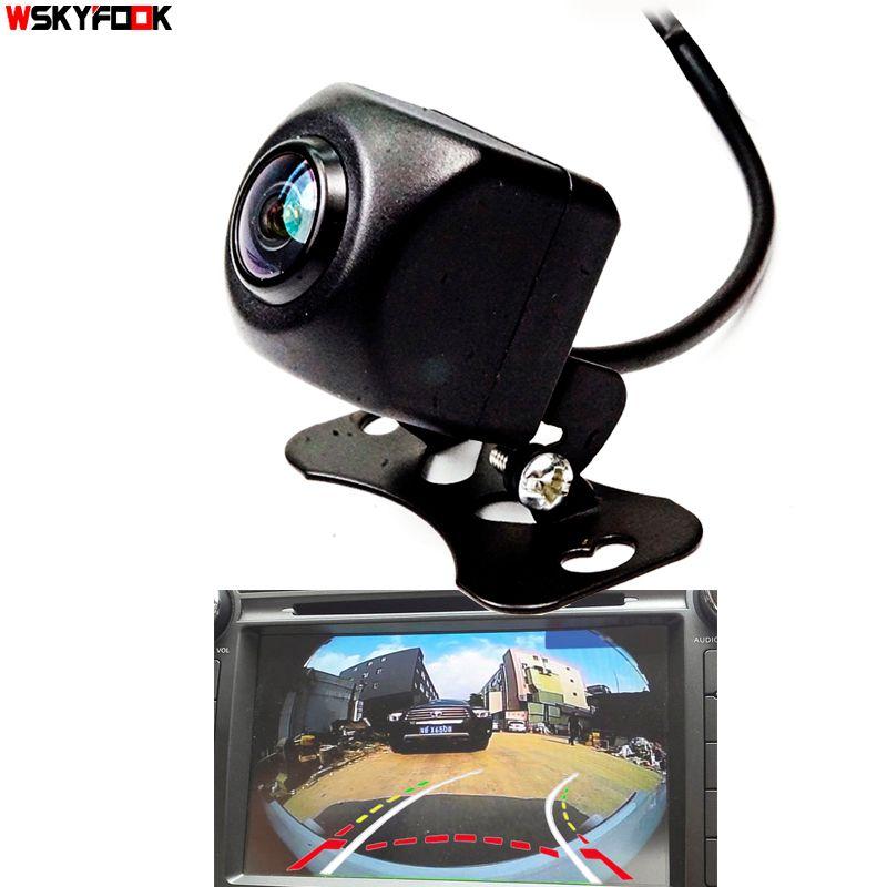 Appr.180 degrés Angle dynamique trajectoire cuver ligne voiture vue arrière caméra de recul Fisheye lentille moniteur de stationnement