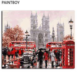 Paintbo пейзаж в рамке фото картина по номерам DIY Рисование на холсте по номерам 40*50 см домашний Декор стены искусства