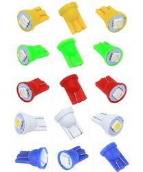 100 pcs Coloré T10 5050 1SMD 5050 1 LED 194 168 W5W Voiture Tail Side Wedge Lampe lecture voiture indiquer auto ampoule pour flipper