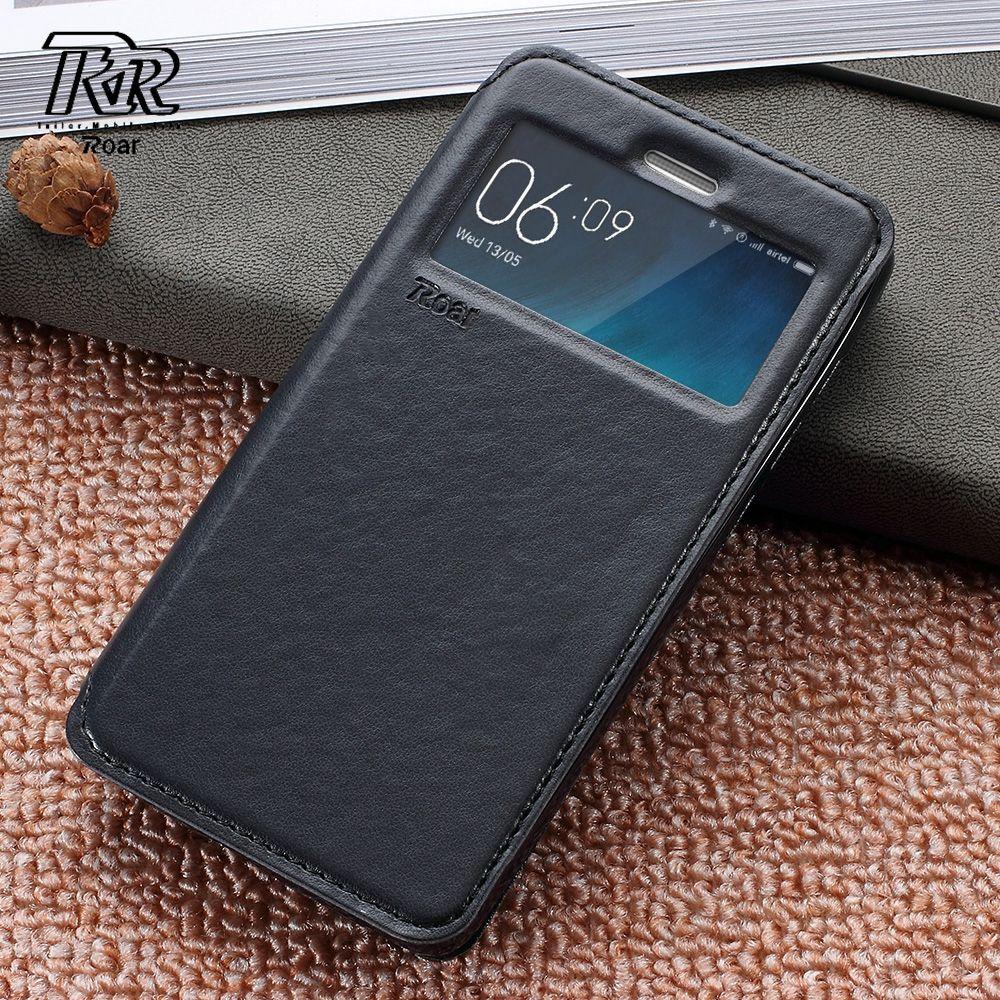ROAR KOREA Case for Xiaomi Redmi 3s Bag Capa for Xiomi Redmi3s View Window Protect PU Leather Redmi 3S Phne Cases Shell Coque