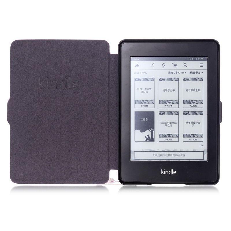 Smart Cover pour Kindle Paperwhite Cas, PU Étui En Cuir pour Amazon Kindle Paperwhite 1 2 3 Couverture wtih Auto sommeil fonction