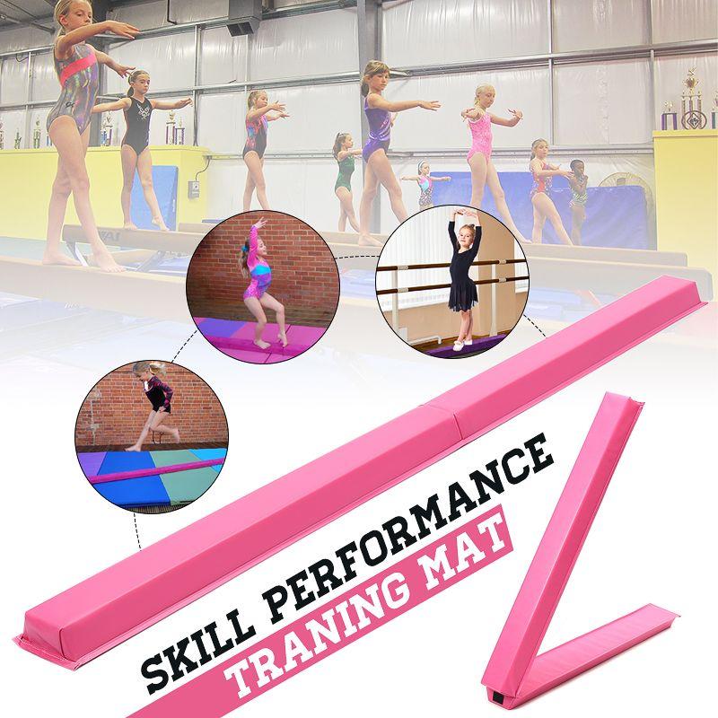 Hot Selling Folding Balance Beam Women Balance Beam Cushion Adult Children's Gymnastics Gym Training Equipment For Somersault