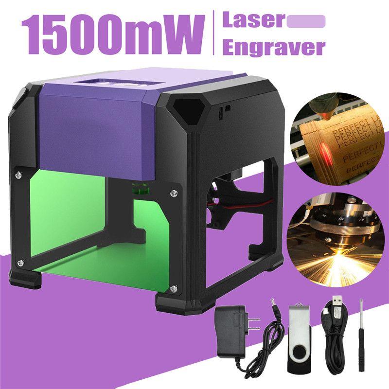 1500mW USB Desktop Laser Engraver Machine DIY Logo Mark Printer Cutter  CNC Laser Carving Machine 80x80mm Engraving Range