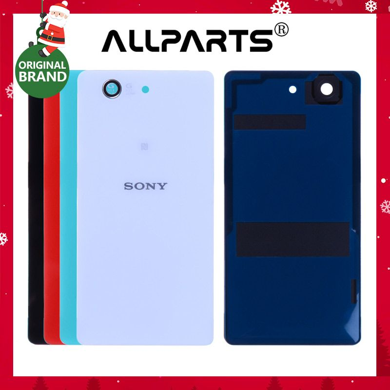ORIGINAL Z3 Mini Housing For SONY Xperia Z3 Compact Back Cover Glass Case Battery Door with Camera Lens Adhesive Replacement