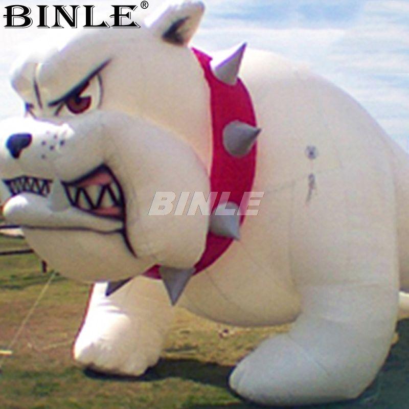 Heißer verkauf 3 mlong heftig riesigen aufblasbaren hund werbung aufblasbare bulldog für event dekoration