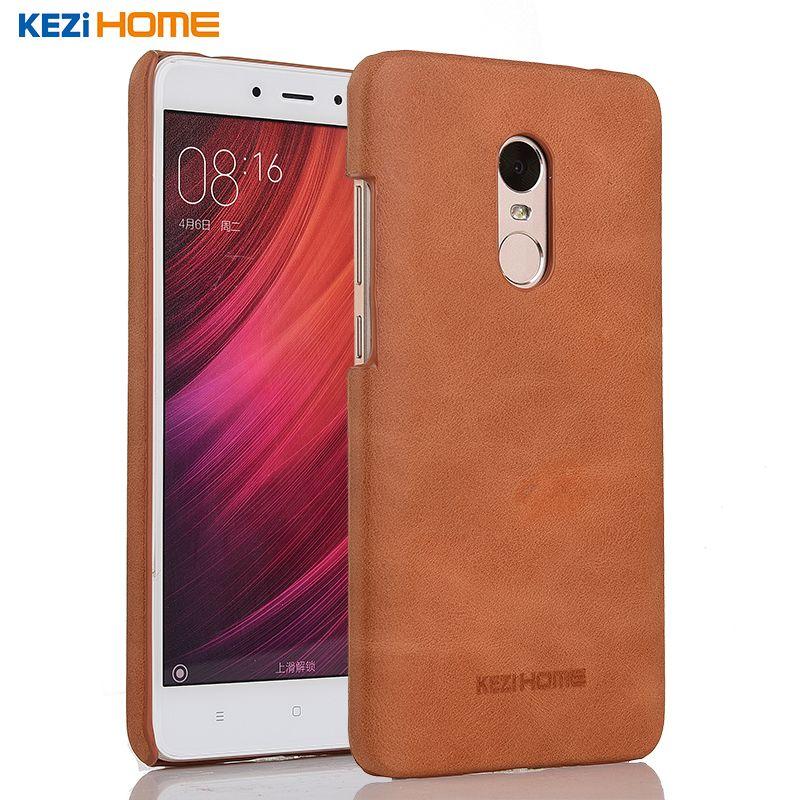 Xiaomi Redmi note 4x cas KEZiHOME Givré Véritable En Cuir Dur de Couverture Arrière capa Pour Redmi Note 4 4X4X5.5 ''Téléphone cas coque