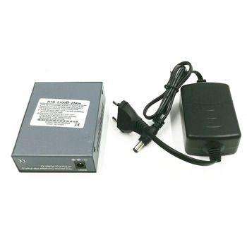 1PCS HTB-3100 B side 10/100M Single Mode 1310nm 25KM Simplex Fiber Optic RJ45 Optical Fiber Media Converter