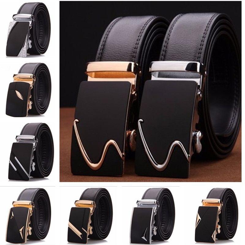 Lannyqveen privado personalizado marca Cuero auténtico cinturones para hombre hombres hebilla automática el envío libre al por mayor fábrica del OEM