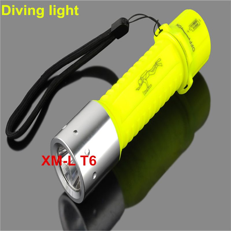 Professional LED Dive Torch Lantern Lighting Underwater Diving Flashlight Torch Waterproof Diver Lamp Use AAA/18650 battery