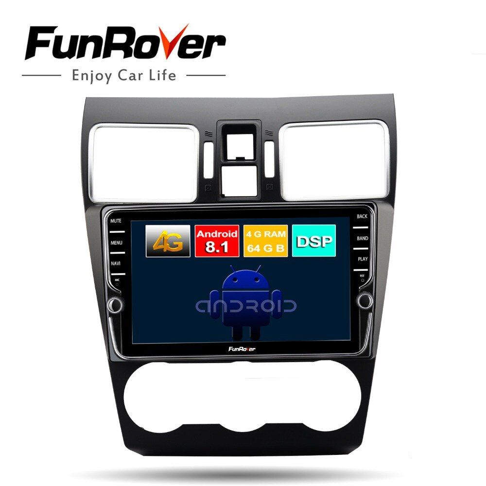 Funrover octa core android 8.1 auto dvd-multimedia-player Für Subaru Forester XV WRX 2012-2018 radio gps 4G + 64G split screen DSP