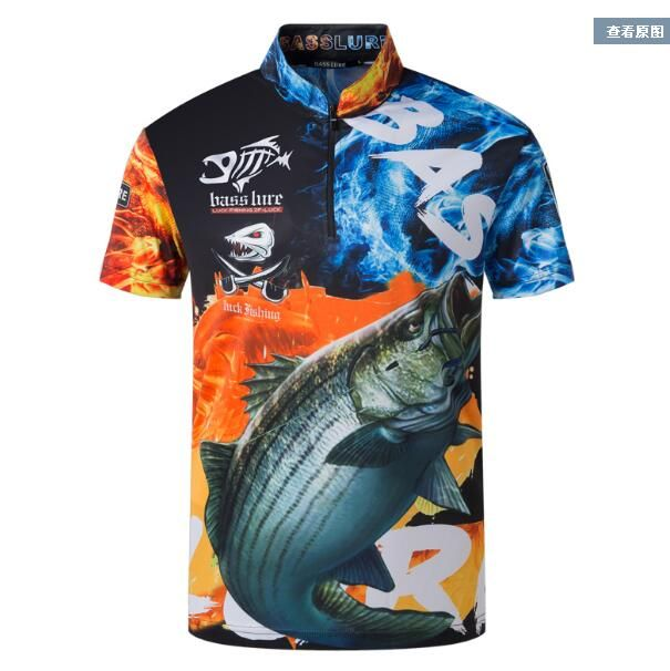 2018 NEW Fishing Short sleeve outdoors clothes Sunscreen summer Breathable Leisure Anti-UV Anti mosquito Quick dry Free shipping