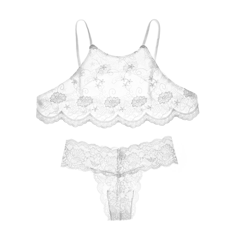 yomrzl A490 summer sexy women's pajama set full lace thin sleep set comfortbale T-back sleepwear sexy lingeries