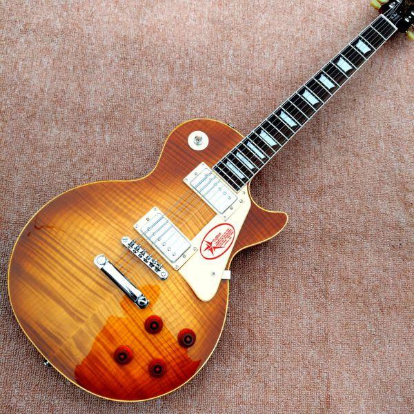 Wholesale Custom shop 1959 R9 Tiger Flame electric guitar Standard LP 59 electric guitar HOT!