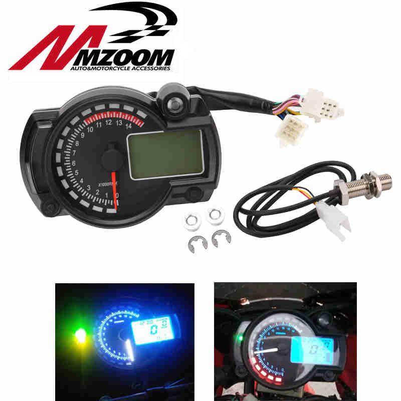 2016 New 15000rpm Modern RX2N Similar LCD Digital Motorcycle Odometer Speedometer Adjustable MAX 299KM/H Hot Selling