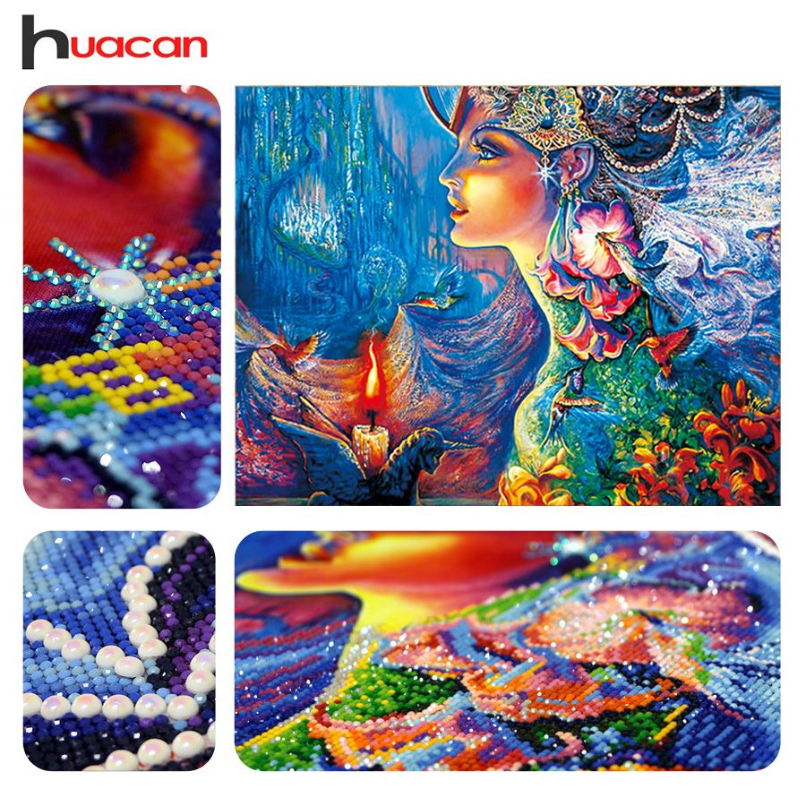 Huacan DIY Diamond Embroidery 5D Diamond Painting Diamonds Mosaic Fantasy Special Rhinestone Cross Stitch Needle Christmas Gift