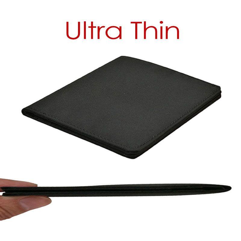 2019 Minimalist Slim Nylon Wallet For Men Women Slimline Ultra Thin Mini Small Male Female Zipper Coin Purse Compact Money Bag