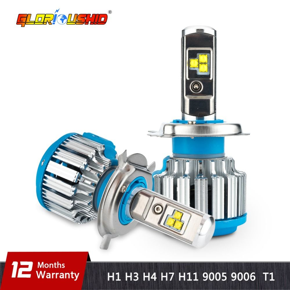 H7 LED H4 H1 H3 H11 H8 H9 9005 9006 HB4 70W 7000lm Car Headlights Front Fog Light Bulb Automobiles Headlamp 6000K Car Lighting