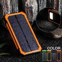 CLAITE 30000 mAh Solaire Chargeur Double USB Puissance Banque 5 v Téléphone Batterie Chargeur Externe Batterie Étanche Chargeur Pour Xiaomi