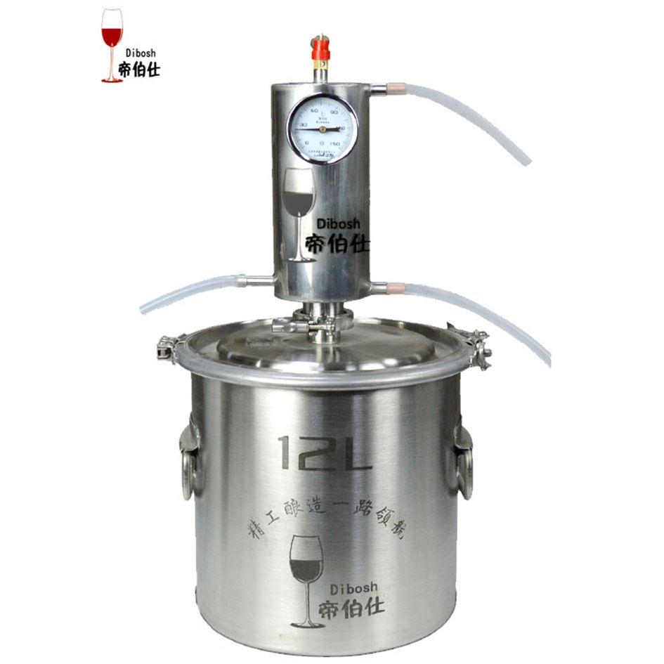 12L Moonshine Alcohol Distiller Kit Vodka Making Machine Home Brew Distillery With Distilling Measuring Alcohol Meter Homebrew