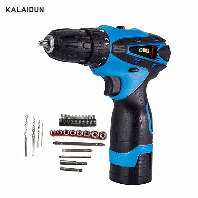 KALAIDUN Electric Drill 16.8V Power Tools Screwdriver Lithium Battery Cordless Drill Mini Drill With Accessories 27pcs Bit