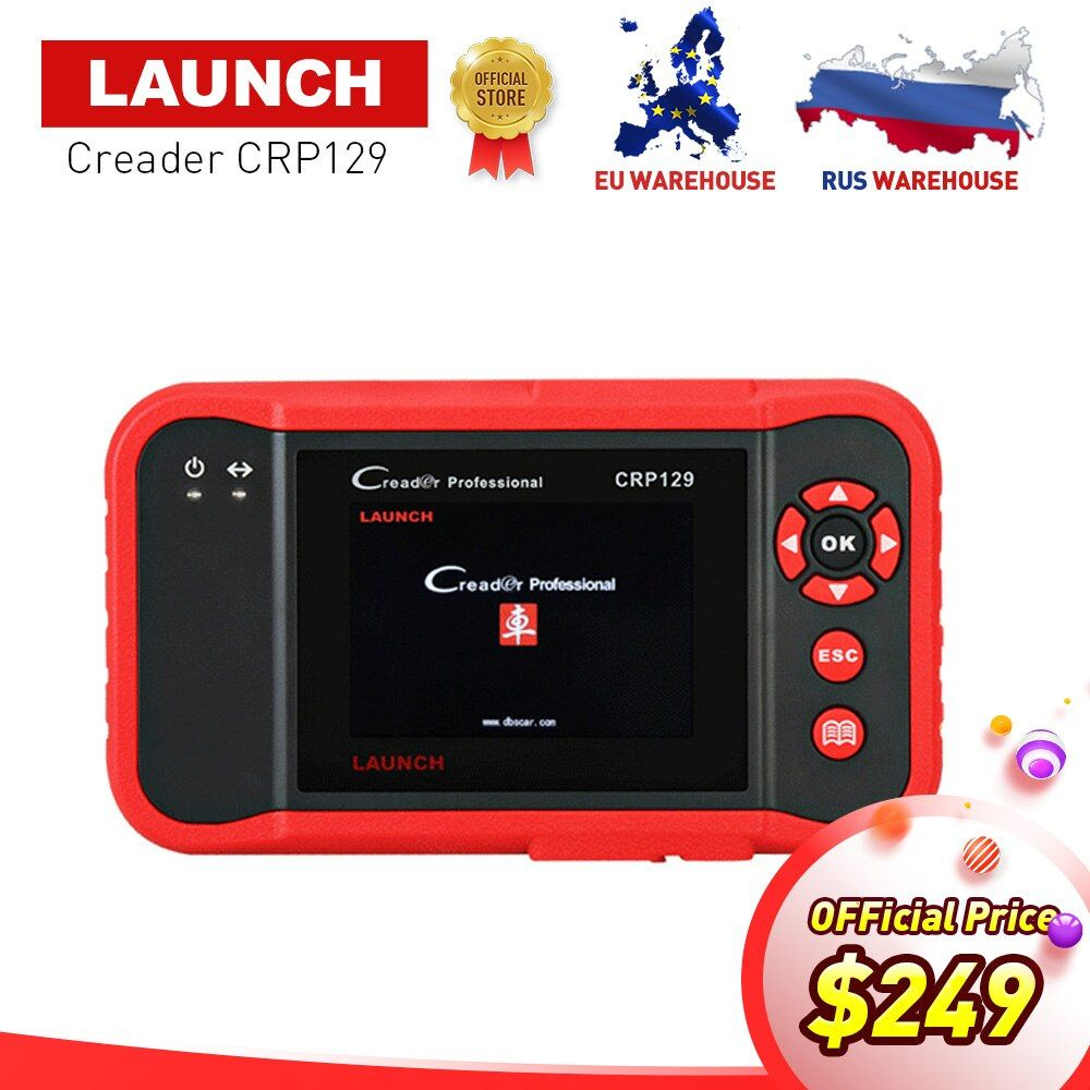 Launch X431 Creader CRP129 OBDII diagnostic tool for ENG/AT/ABS/SRS + EPB Oil SAS reset X431 CRP 129 Scanner same Creader VIII