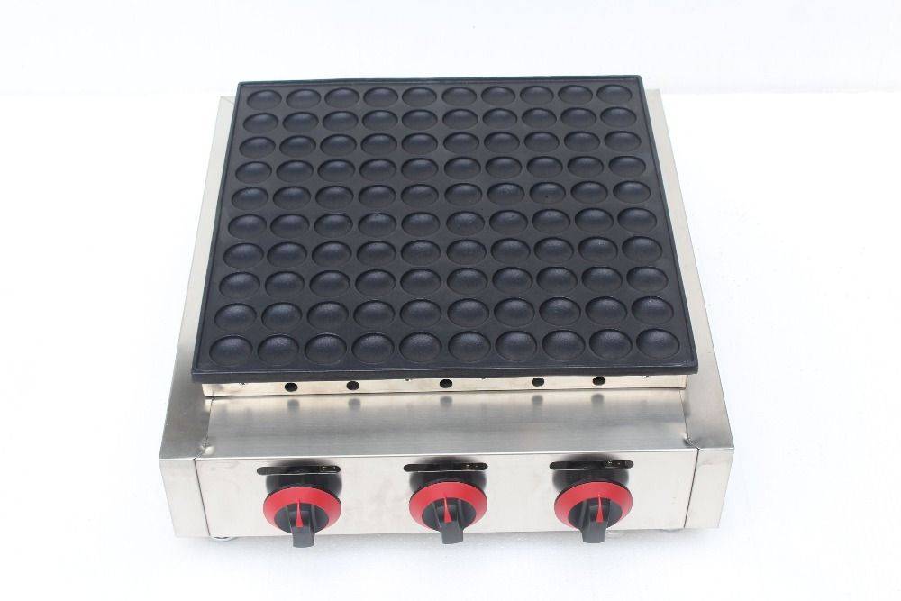 Free Shipping Gas tye 100 Holes Poffertjes Maker Machine Pancake Machine
