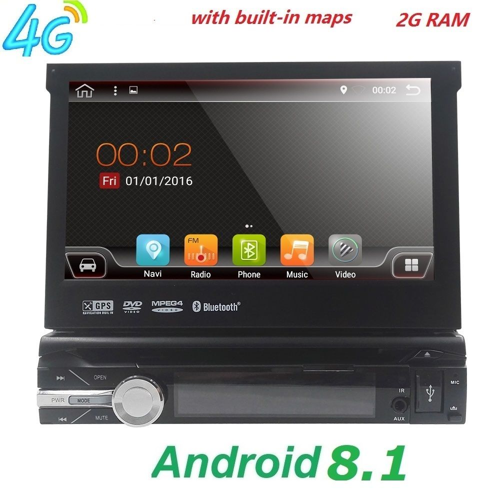 Universal 1 din Android 8.1 Quad Core Auto DVD player GPS Wifi BT Radio BT 2 gb RAM 32 gb SD 16 gb ROM 4g SIM LTE Netzwerk SWC RDS CD