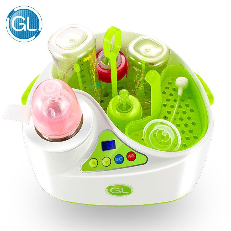 2 in 1 baby Flasche Sterilisator Multifunktions Milch Erwärmung Sterilisieren Baby Fütterung Flasche Großen Kapazität LCD Dislpay Flasche Wärmer