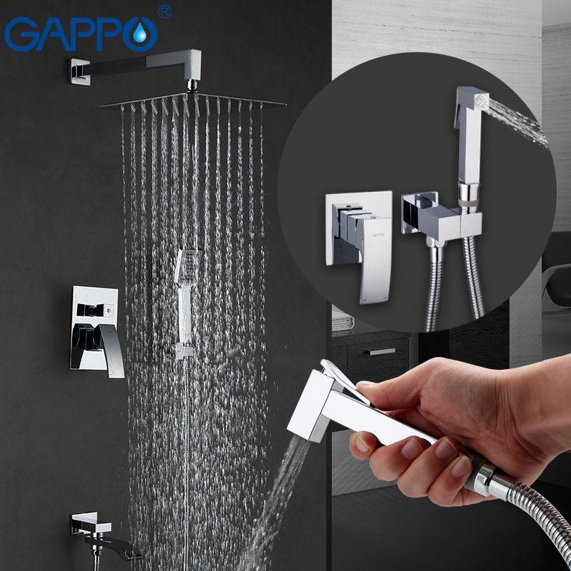 GAPPO Shower Faucets bathroom shower mixer bidet faucet bidet toilet sprayer wall mount shower system