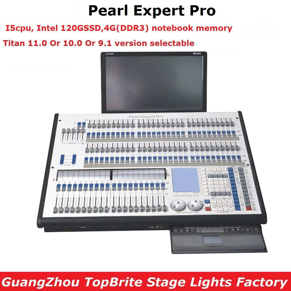 Pearl Expert Pro Stage Lighting Controller Titan 11.0 Or 10 System Titan Console Double Engine 4096 DMX Channel Flightcase Pack