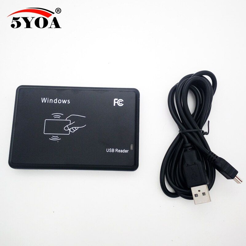 125Khz RFID Reader EM4100 USB Proximity Sensor Smart Card Reader no drive issuing device EM ID USB for Access Control