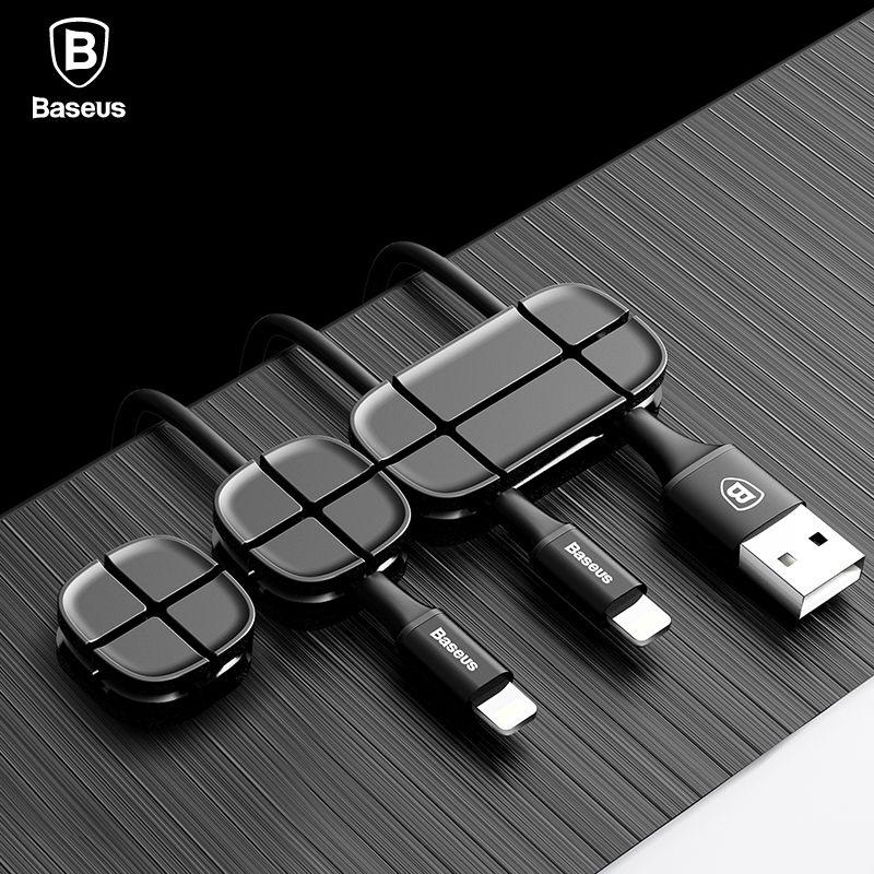 Baseus Kabelaufwicklung Flexible Silikon USB Kabel Organizer Wire Kabel Kabelmanagement Clip Halter Für Maus Kopfhörer Kopfhörer